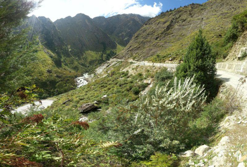 wunderschöner aber beschwerlicher Weg nach Badrinath