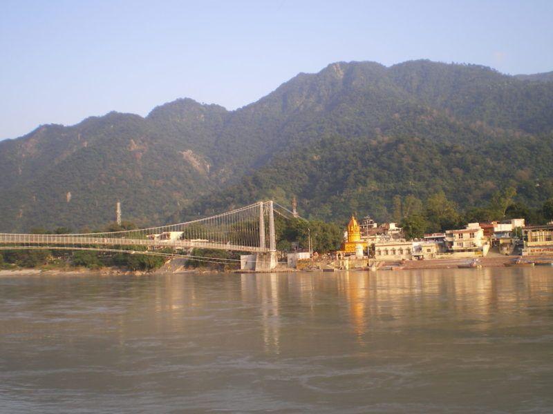 Blick vom Sivananda Ghat