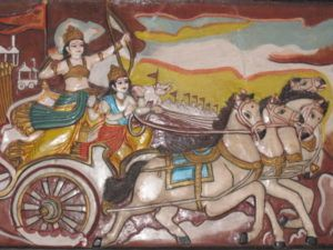 Arjuna und Krishna Bhagavad Gita