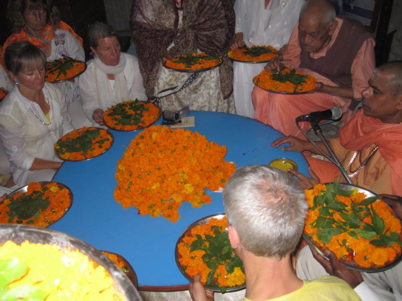 Opfer Blumen Sivananda