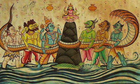https://vedanta-yoga.de/indische-mythologie/samudra-manthan-das-quirlen-des-milchozeans/ Indische Mythologie - Geschichten über Gott und die Götter
