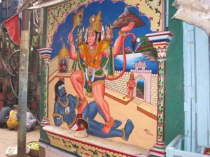 Hanuman, Bajarangi, Mahavira, Wandbild