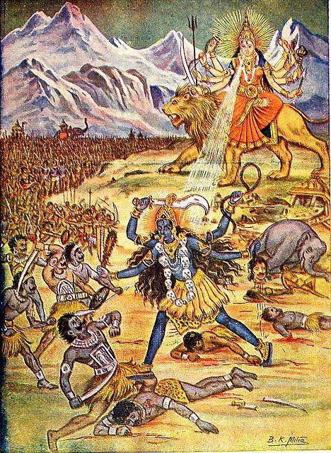 Göttin Kali und Durga
