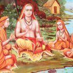 Shankara und Schüler, Shankaracharya, Advaita Vedanta, Upanishads