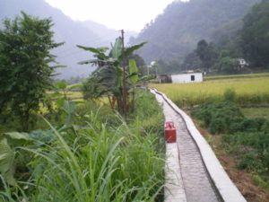 Aquadukt mit Gasflasche
