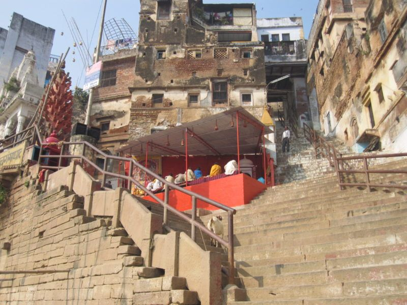 steile Treppen am Ghat