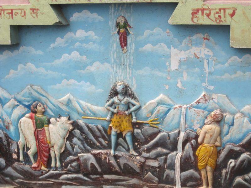 Shiva leitet die Ganga zur Erde