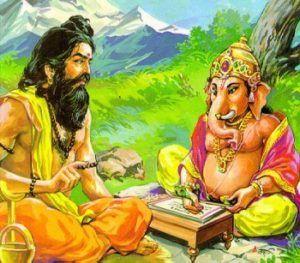 Veda Vyasa und Ganesha im Himalaya